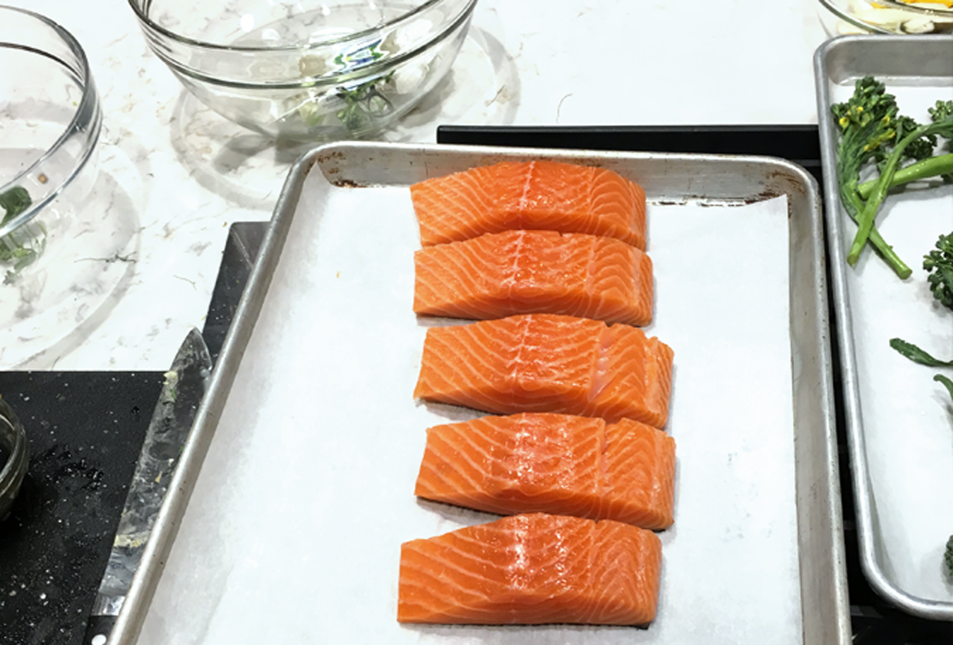 Cooking with fresh salmon
