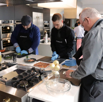 World of Whirlpool chefs prepping food for an event